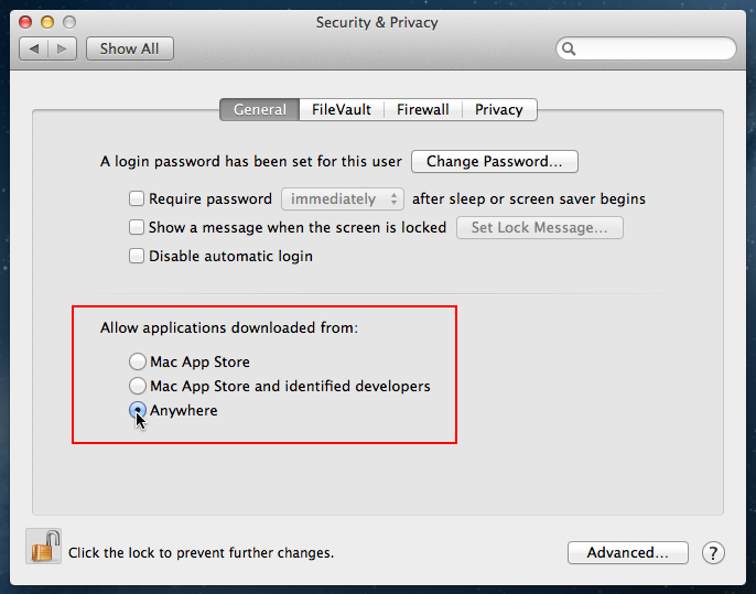 Gatekeeper Settings Dialog